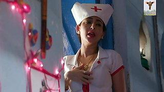 Sexy indian girl Lovely Sharma in nurse outfit