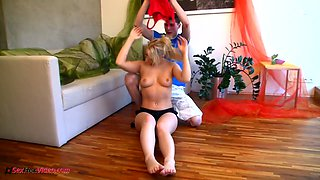 Sizzling flexible babe Michaela does the splits and rides hard dick