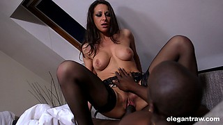 Martina's other hole is getting poked by a humongous ebony cock