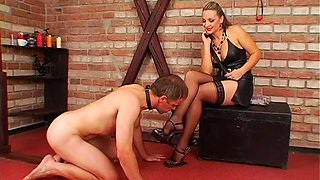 hot babe dominates her slave video film 1