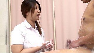 Incredible Japanese model in Exotic Nurse, Shower JAV clip