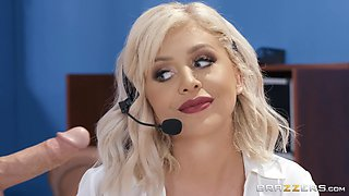 hardcore office doggy fuck and a facial for secretary Madelyn Monroe