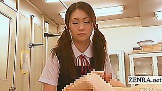 Subtitle CFNM nudist Japan student tease