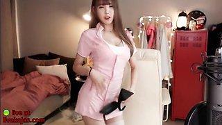 Korean cutest 18yo camgirl in uniform