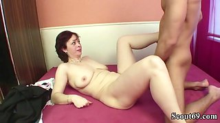 Step mother seduce son to fuck her when dad is on work