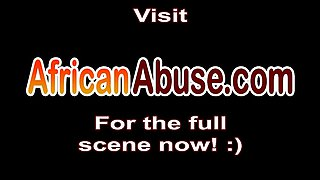 African hottie pounded by stranger