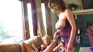 Incredible pornstars Jillian Foxxx, Cara Lott and Kat Kleevage in hottest fishnet, strapon porn movie