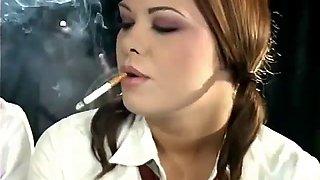 Miss nadia &amp miss cara smoking fetish schoolgirl roleplay