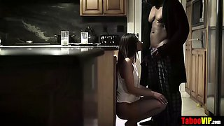 Teen gets fucked by her perverted bbc father in law