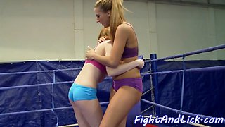 Amateur wrestling babes pussylicking nicely