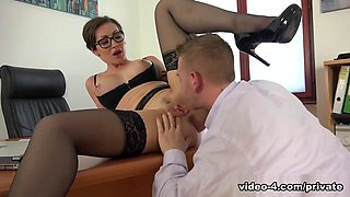 Yasmin Scott Milf And Secretary Gets Cum On Her Glasses - Private