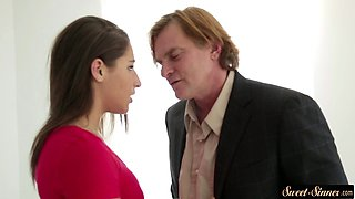 Classy teen stretched by horny stepdad