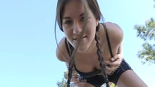 The Stunning Shyla Is Out For A Run & Striptease