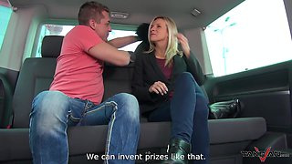 Doggystyle action in his car makes Bianca extra horny