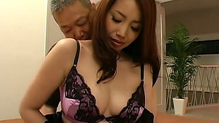 A Japanese Beautiful Housewife Fucked By A Old Man