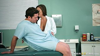 Abigail Mac is a horny doctor craving to feel a hunk's boner
