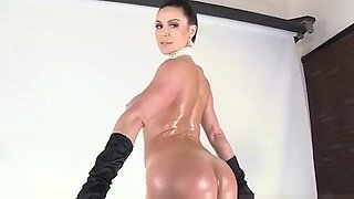 Kendra Lust suck  rides a hard fat cock with her round  oiled ass