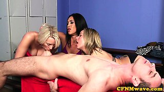 CFNM babes sucking dick until warm a finish
