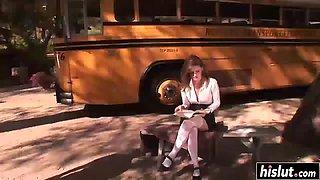 Faye reagan-school bus stop