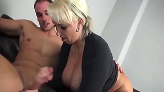 Very busty mature milf gets pounded by her new coworker