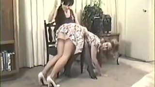Vintage Spanking In Dress