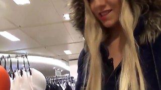 Crazy girl masturbate in dressing room
