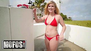 MOFOS - Publick Pickups - Taylor Blake - Bikini Babe Flash For Cash