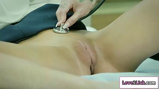 Joanna angel gets her pussy licked by her patient kenzie reeves