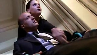 Hot bitch Laura Angel gets fucked while being watched