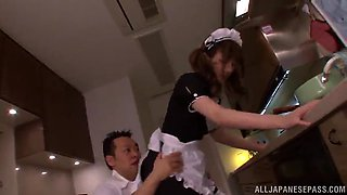 asian maid if fucked silly by her horny boss