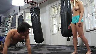 Mixed wrestling violent ejaculation