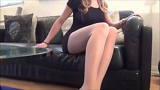 Femdom mistress foot tease domination