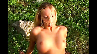 Smoking Hot Blonde Gets Banged In The Open Air