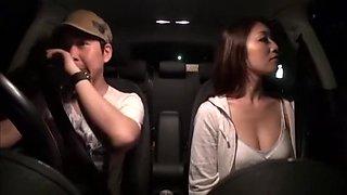 Horny Japanese model Reiko Kobayakawa in Exotic Outdoor, Car JAV scene
