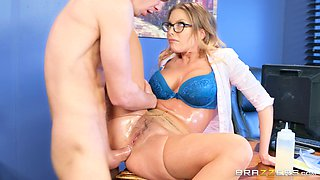 Britney Amber is the secretary who does everything that her boss wants