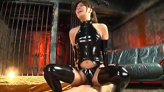 Best Japanese model Nana Ninomiya in Horny Latex, Fetish JAV clip