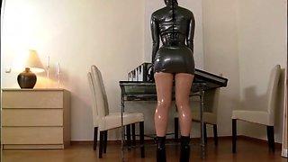 Black Latex Corset Dress