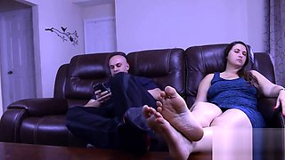 Big Tits Melanie Hicks in Daughter Fucks Step Dad while Mom Out