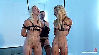 Anikka Albrite & Chanel Preston & Jessie Rogers in Tits, Ass, Two Sexy Blondes, Electrosex, And Lots Of Shocking Lezdom Action - Electrosluts