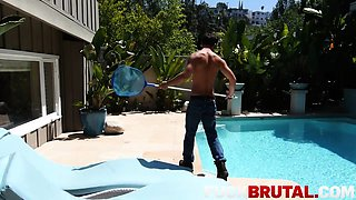 Alaina Kristar In Brute Fucked By POOL Guy