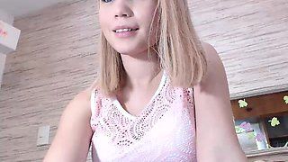 Virgin Amateur Cute Blonde Toying