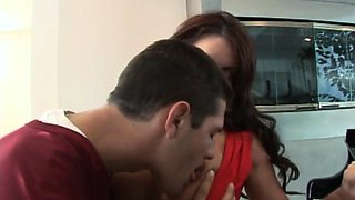 Appetizing housewife Victoria Valentino gets fucked good