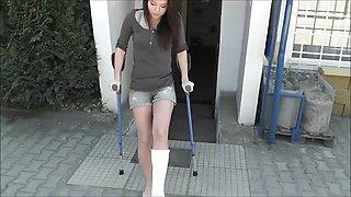 Hot girl slc crutching