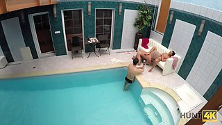 Sex adventures in private swimming pool