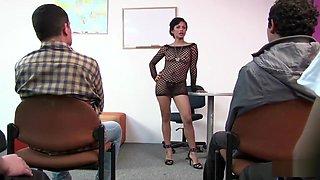 Teacher testing for their dick skills