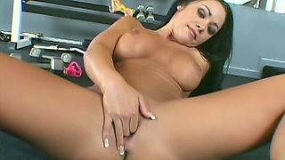 Flexible girl with nice fake tits fucked
