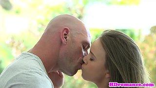 Lingerie girlfriend plowed by her boyfriend