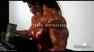 3d animated female muscle sexy