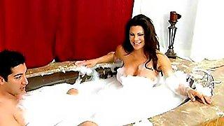 super sexy hot mom taking a bath