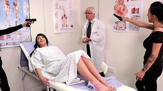 Horny doctor cums a lot